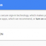 Allow less secure apps to access your Gmail account