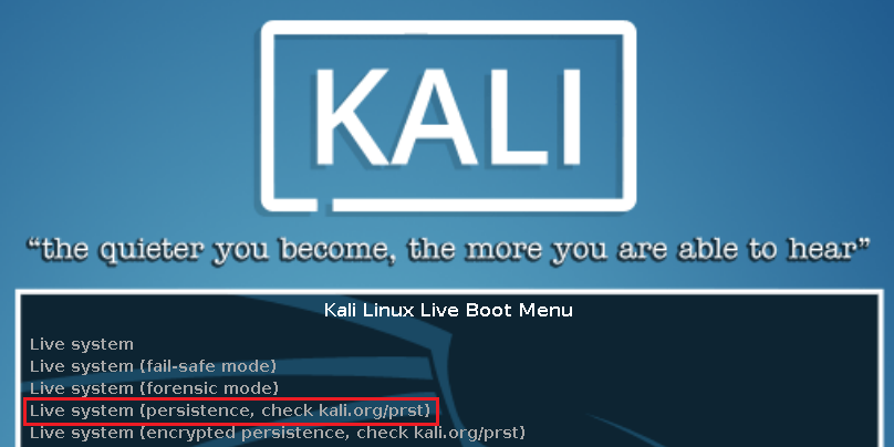 Guide: Kali Linux 2019 & 2018 Live USB with Persistence