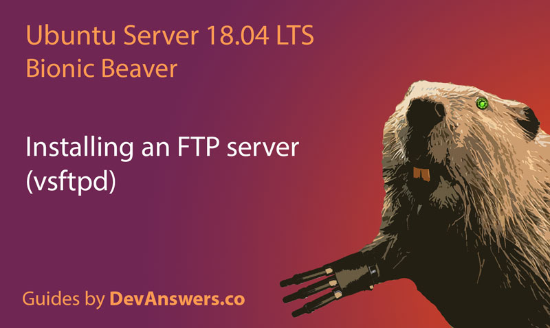Installing an FTP server (vsftpd) on Ubuntu 18.04
