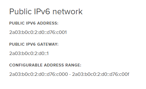 New IPv6 addresses