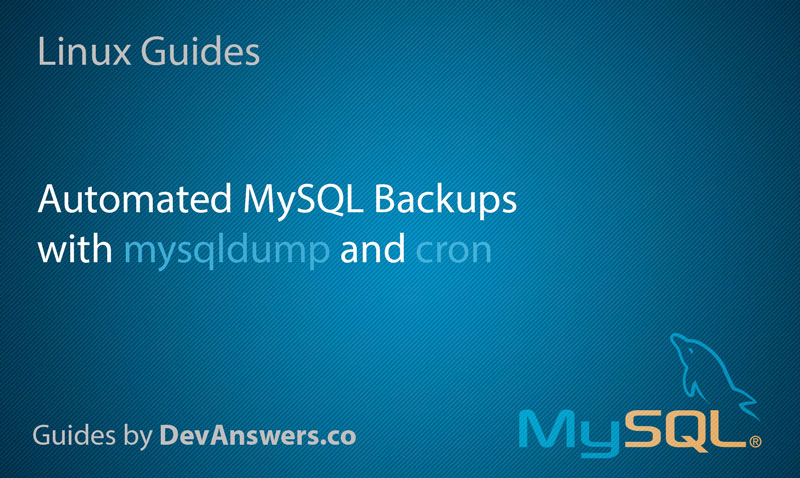 How to Back Up MySQL Databases with Linux Command Line
