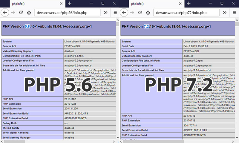 How to Run Multiple PHP Versions with Apache on Ubuntu 18.04 / 16.04