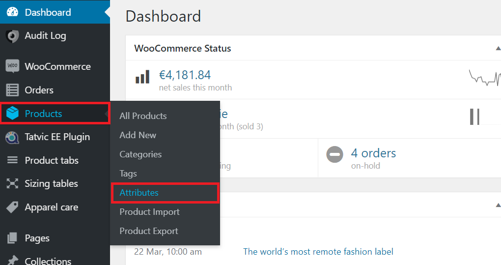 Change WooCommerce attribute order