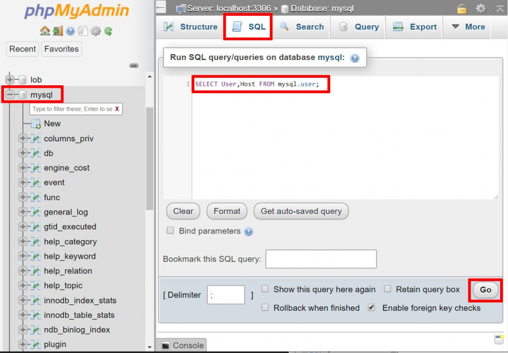 phpMyAdmin Access Denied For User Using Password: Yes